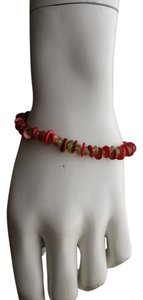 Other Red coral and Green Peridot Bracelet