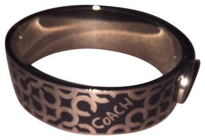 Coach Coach Authentic Black Signature Snap Bangle Bracelet Very Pretty EXCELLENT CONDITION OUTSIDE! See Notes Retail $98