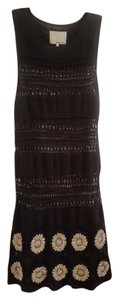 3.1 Phillip Lim Crochet Knit Metallic Sheath Dress