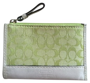 Coach Green Coach signature print slim wallet