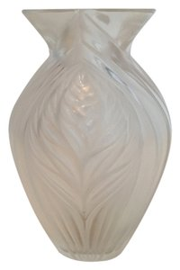Lalique Lalique France Signed Pavie Vase Vintage