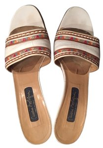 Mario Bologna Italian Leather White and multi color Sandals
