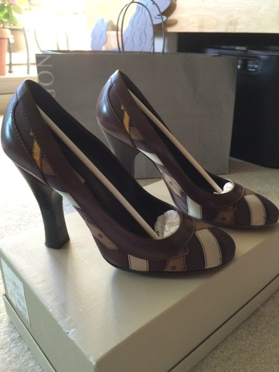 Burberry Trench Check Pattern Silk Pumps