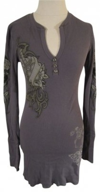 Preload https://item1.tradesy.com/images/charcoal-grey-tattoo-print-henley-w-rhinestone-embellishments-tunic-size-8-m-32050-0-0.jpg?width=400&height=650