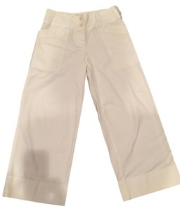 DKNY Wide Leg Relaxed Pants White