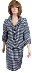 Ann Taylor Checked Two-Piece Skirt Suit