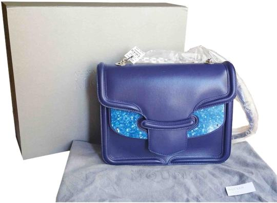 Preload https://img-static.tradesy.com/item/3205651/alexander-mcqueen-crystal-large-heroine-seen-on-elizabeth-olsen-blue-leather-suede-satchel-0-0-540-540.jpg