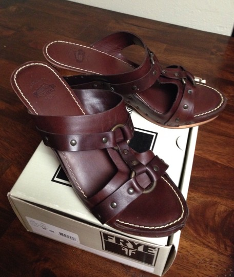 Frye Dark Brown Sandals
