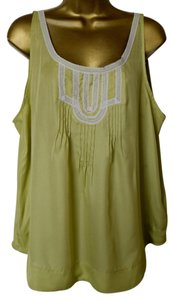 LC Lauren Conrad Lace Lime Top Linden Green