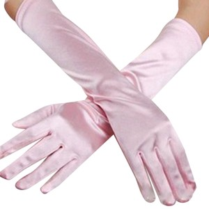 Other New! Pink Satin Long Formal Gloves