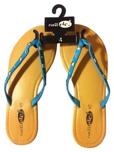 Rue 21 Beige/Blue Sandals