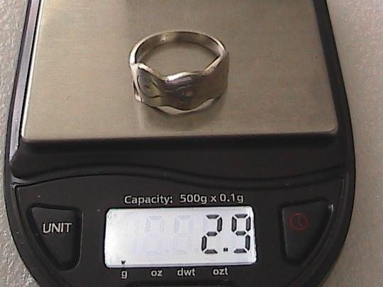 Other Sterling Silver Wavy Band Ring