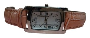 Pink Crocodile Embossed Band Watch FREE SHIPPING