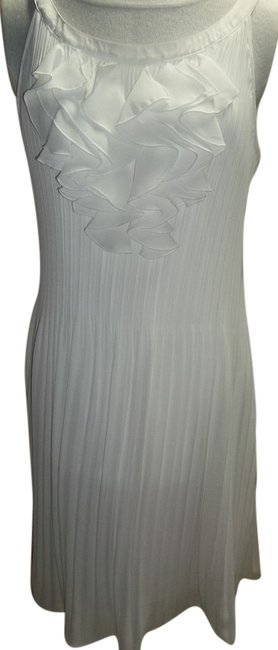 Item - White Knee Length Night Out Dress Size 10 (M)