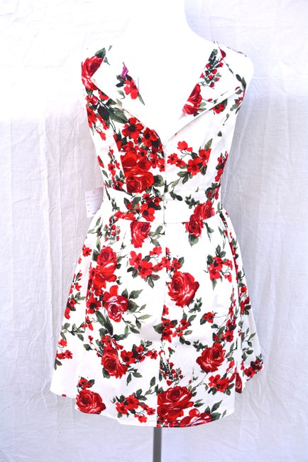 Modcloth short dress red floral on Tradesy
