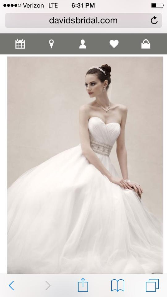 631bb530fcd Oleg Cassini White Tulle Flowing and Elegant. Perfect For Summer Beach Cpk  440 Ball ...