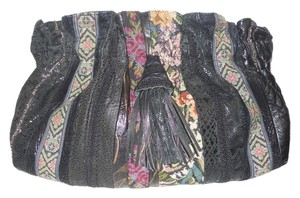 Viva of California Shoulder Crossbody Vintage Leather black multi Clutch