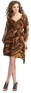 Diane von Furstenberg Dvf Wrap Wrap Silk Animal Print Dvf Philomena Dress