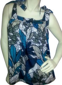 a.n.a. a new approach Like Swing Floral Top Teal, black & gray