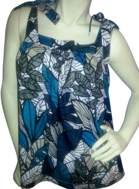 Preload https://item4.tradesy.com/images/ana-a-new-approach-teal-black-and-gray-shoulder-tie-swing-shirt-tank-topcami-size-petite-14-l-3208138-0-0.jpg?width=400&height=650
