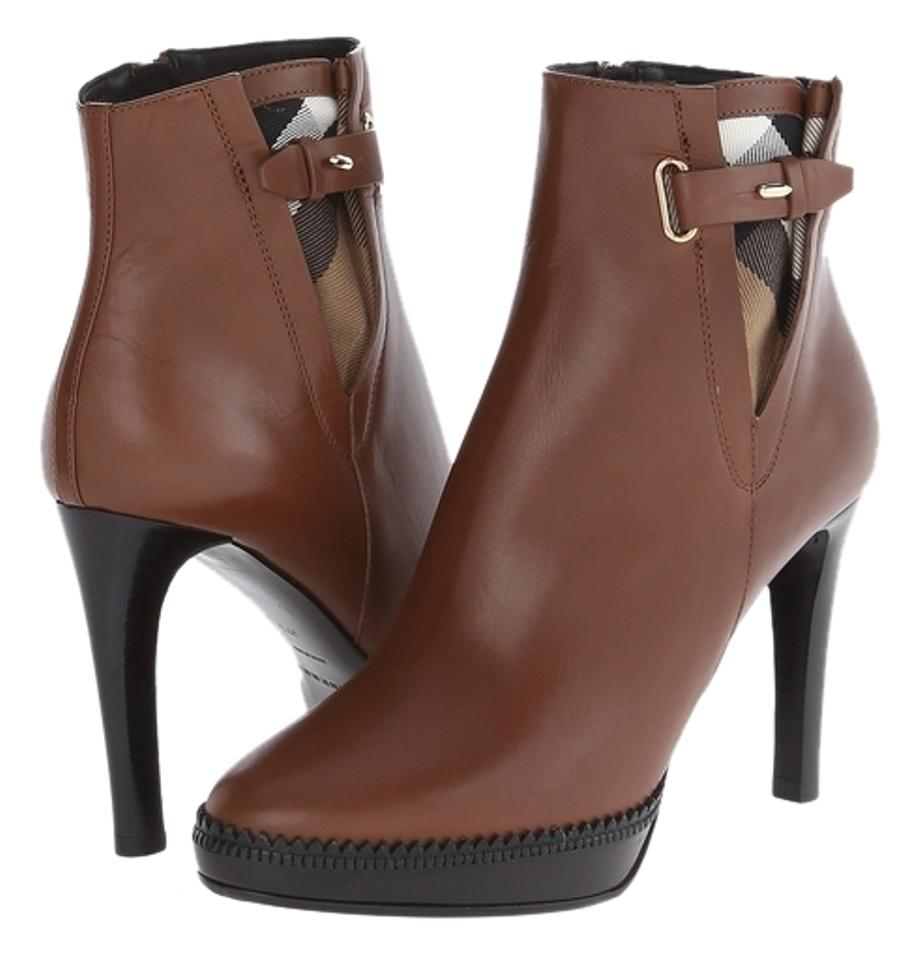 Burberry Brown Lysterfield Ankle Boots/Booties Classic Check 38/8 M Boots/Booties Ankle 34f2bf