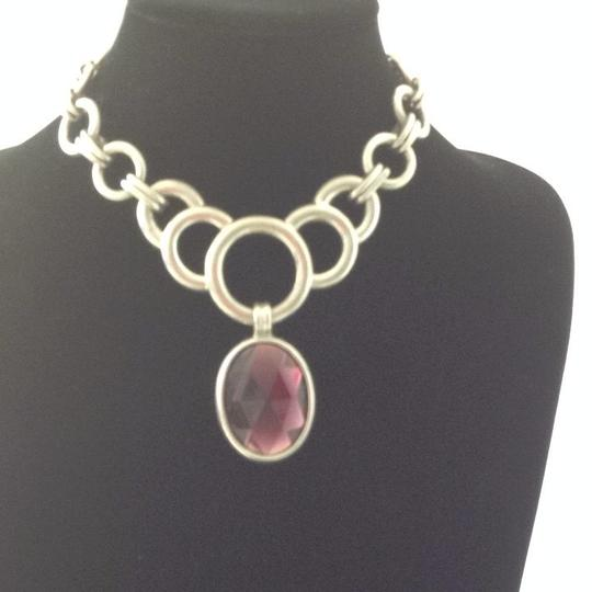 Ben-Amun Ben Amun Silver And Amethyst Pendant Necklace