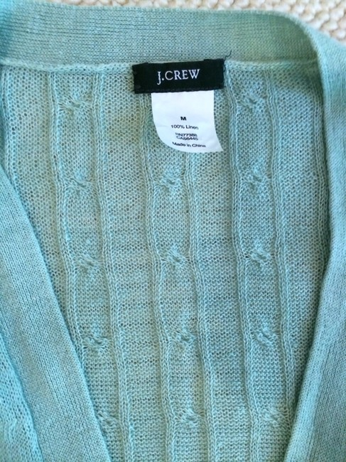 J.Crew Linen Cable-knit Cardigan Sweater