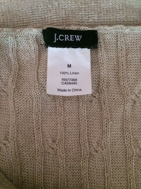 J.Crew Linen Cable Knit Cable Sweater