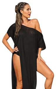 UjENA Ujena Honeymoon Collection Cabo Dress Swimsuit Cover Up A518 Black