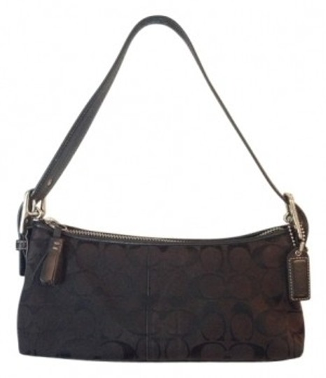 Preload https://item2.tradesy.com/images/coach-black-leather-trim-shoulder-bag-32101-0-0.jpg?width=440&height=440