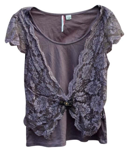 Preload https://item4.tradesy.com/images/ric-rac-brown-anthropologie-lace-by-blouse-size-4-s-3210118-0-0.jpg?width=400&height=650