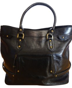 Cole Haan Satchel Brass Hardware Tote in Black