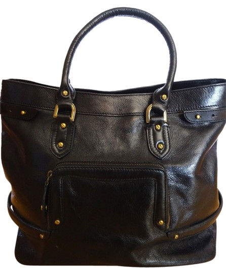 Preload https://item2.tradesy.com/images/cole-haan-glossy-black-leather-tote-3210166-0-0.jpg?width=440&height=440