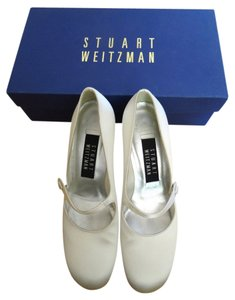 Stuart Weitzman Wedding Bridal Satin White Formal