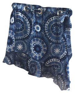 Italy Pucci Etro Mini Skirt Blue
