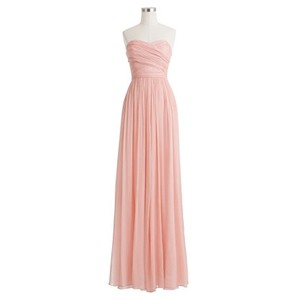 J.Crew Light Pink Silk Chiffon Sweetheart Gown Feminine Bridesmaid/Mob Dress Size 4 (S)