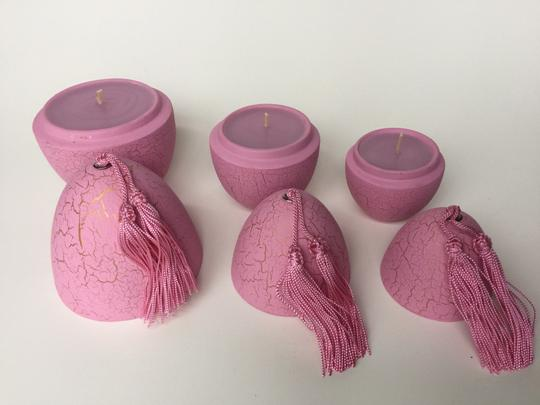 Multicolor Set Of 3 Votives and Candles