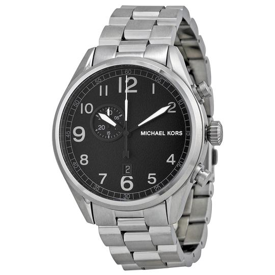 Michael Kors Michael Kors MK7066 Men's Silver Analog Watch With Black Dial