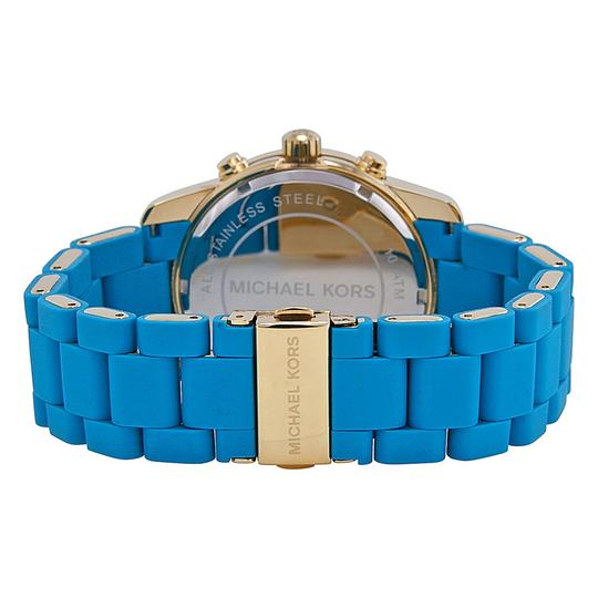 Michael Kors Michael Kors MK5891 Women's Gold Analog Watch With Turquoise Dial