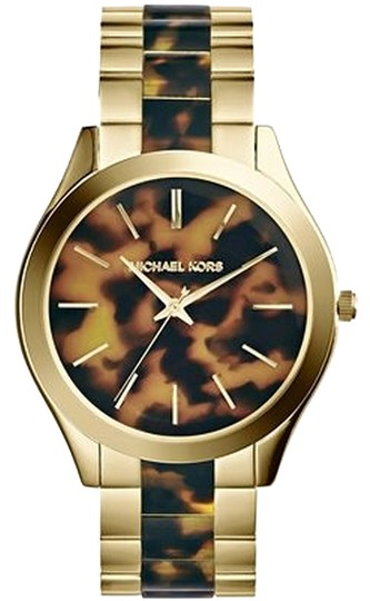 Michael Kors Michael Kors MK4284 Women's Two Tone Analog Watch With Tortoise-shell Dial