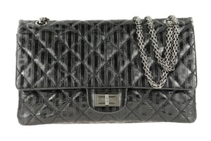 Chanel Calfskin Leather Silver Hardware Shoulder Bag