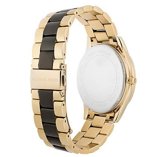 Michael Kors Michael Kors MK3315 Women's Two-tone Analog Watch With Zebra Dial
