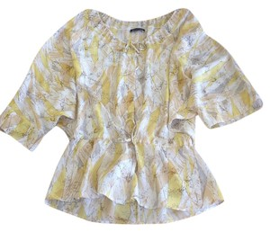 Boulee Top Yellow, Cream & Tan