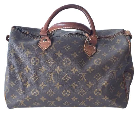 Preload https://item4.tradesy.com/images/louis-vuitton-speedy-30-monogram-coated-canvasleather-satchel-3212008-0-2.jpg?width=440&height=440