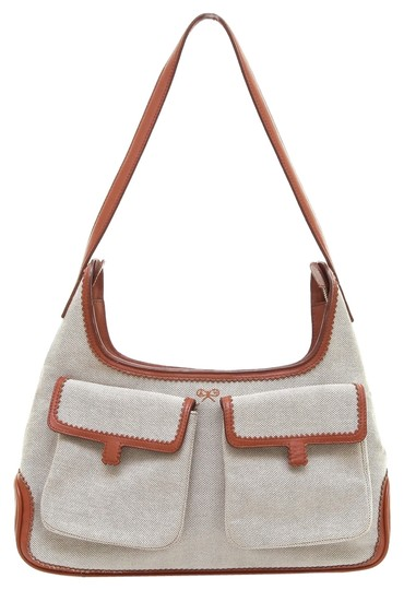Preload https://item2.tradesy.com/images/anya-hindmarch-shoulder-purse-silver-hw-cream-brown-canvas-leather-hobo-bag-3212221-0-0.jpg?width=440&height=440