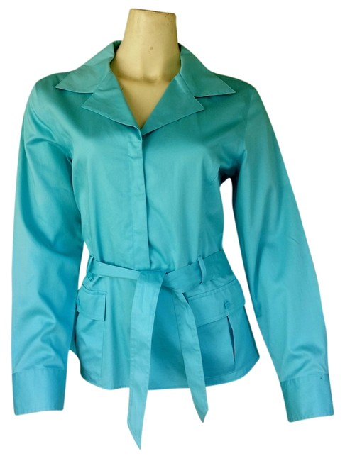 Preload https://item3.tradesy.com/images/talbots-aqua-new-brushed-cotton-belted-blouse-size-12-l-3212317-0-0.jpg?width=400&height=650