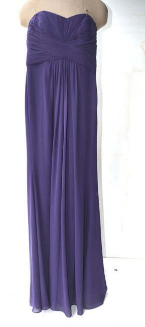 Item - Purple Silk XS Strapless Gown Formal Bridesmaid/Mob Dress Size 2 (XS)