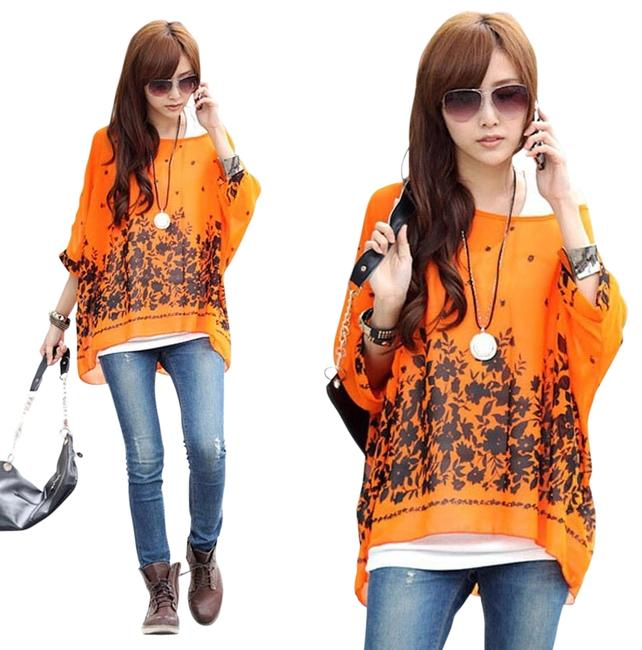 Preload https://item3.tradesy.com/images/orange-and-black-bohemian-batwing-chiffon-blouse-size-os-one-size-3212722-0-0.jpg?width=400&height=650