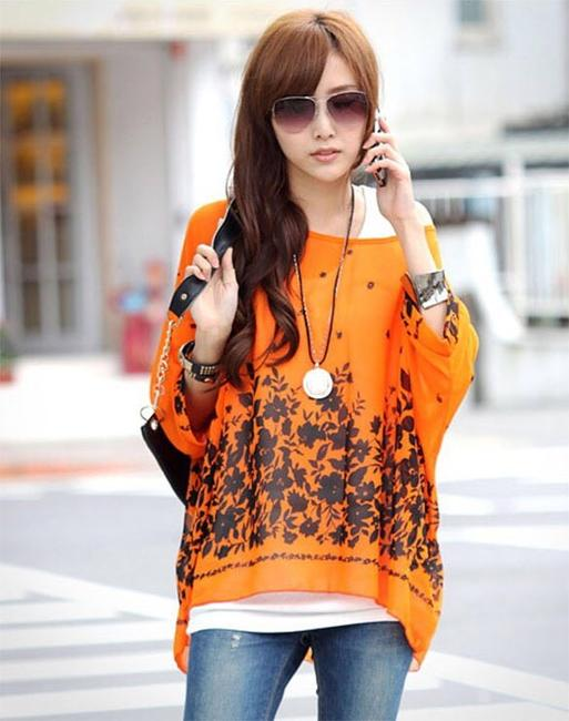 Other Top Orange & Black