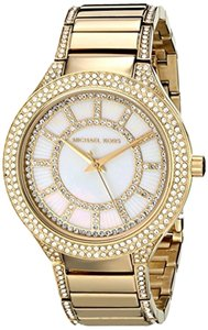 Michael Kors Michael Kors MK3312 Women's Gold Tone Analog Watch With Silver Dial